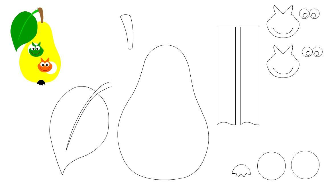 Шаблон для детская аппликация из бумаги