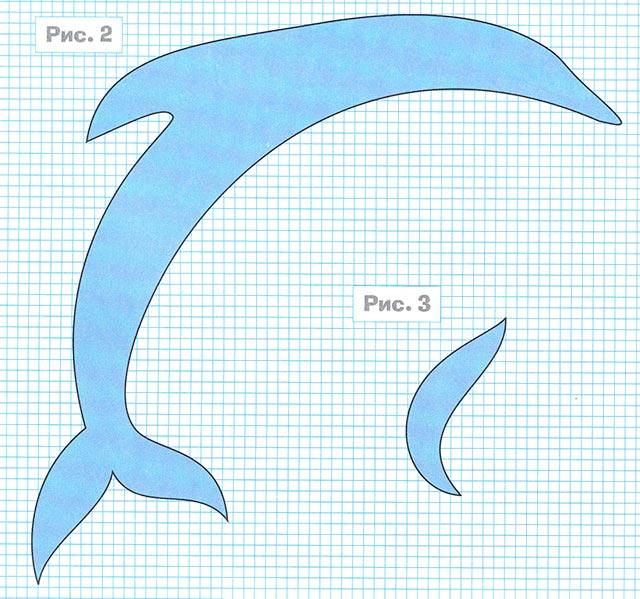 Дельфин из бумаги для детей