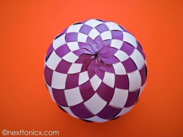 Бумажные елочные шары из бумаги своими руками