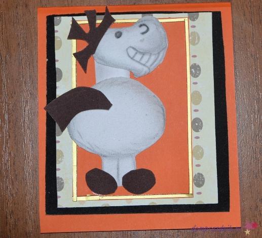 3 д открытка на новый год своими