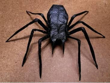 Сделать паука из бумаги