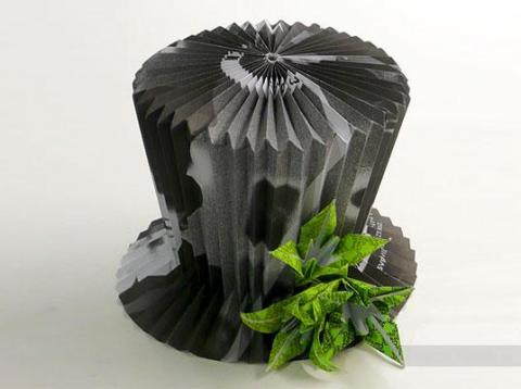 Шляпа - поделка из бумаги