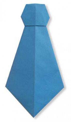 Оригами из бумаги «Галстук»