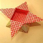 Звездная коробка из бумаги