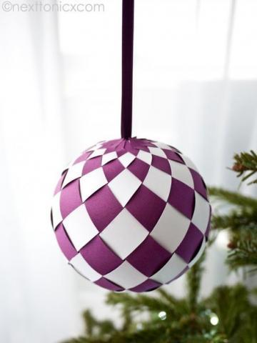 Бумажные елочные шары своими руками