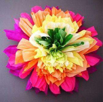 Букеты из цветов из гофрированной бумаги. Пионы.