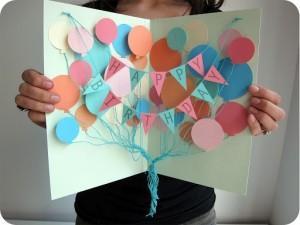 Объёмная открытка своими руками — схема — С Днём Рождения