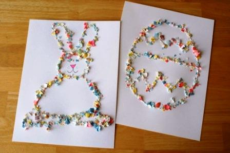 Картинки из яичной скорлупы