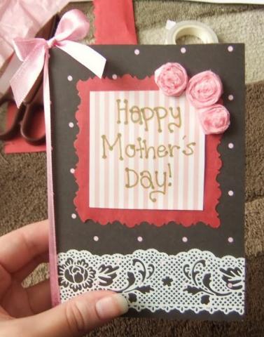 Поздравительная открытка маме своими руками.