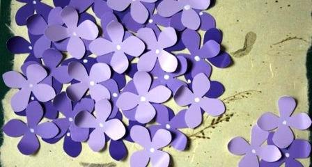 Открытка своими руками — цветок