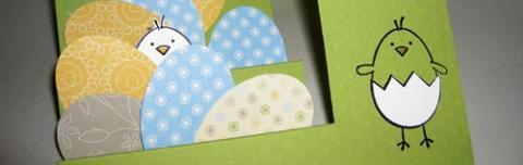 Красивые открытки на Пасху — 2 идеи