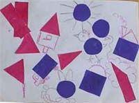 """Аппликация из бумаги для детей """"Волшебная геометрия"""""""