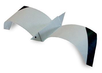 Схема оригами чайка