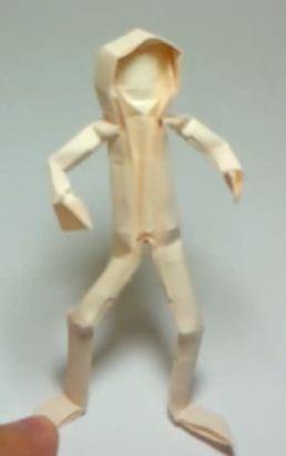 Человек  из бумаги