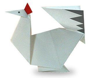 Схема оригами курица