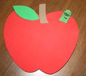Яблоко: домик для червячка