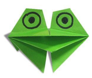 Оригами жаба