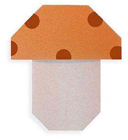 Гриб из бумаги для детской аппликации