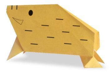 Схема оригами кабан