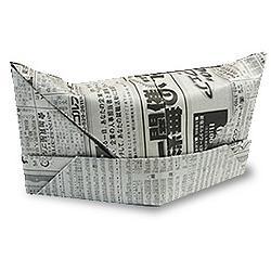 Схема оригами шапка из газеты