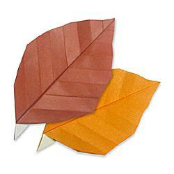 Схема оригами листья