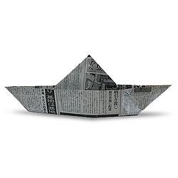 Схема оригами мексиканская шапка из газеты