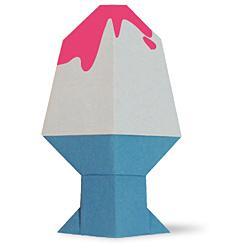 Схема оригами мороженка