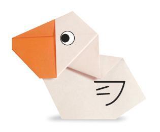 Схема оригами пеликан