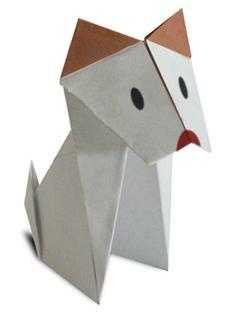 Схема оригами пес