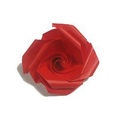 Простая роза оригами - схема сборки