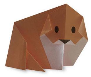 Схема оригами собачка