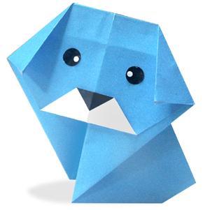 Схема оригами собака