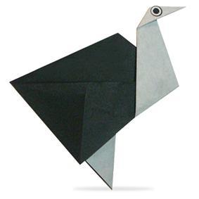 Схема оригами страус