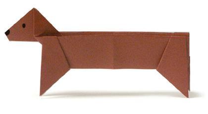 Схема оригами такса