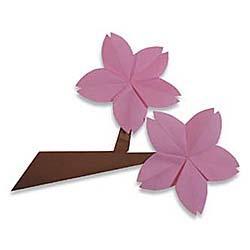 Схема оригами ветка вишни с цветами