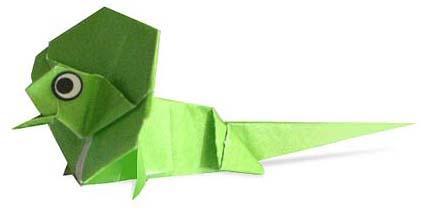 Схема оригами ящерица