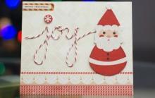 Новогодняя открытка ручной работы