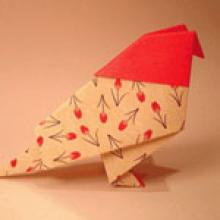 Интересная птица оригами