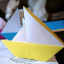 Оригами парусник
