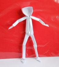 Оригами человек из бумаги