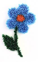 Мозаика цветка в технике торцевания из гофрированной бумаги