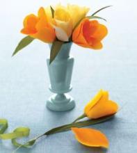 Тюльпан из гофрированной бумаги