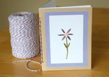 Открытка с цветком своими руками — открытка на День рождения маме
