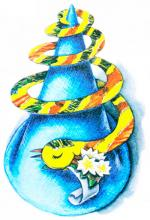 Змея из бумаги