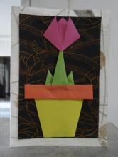 Открытка оригами Тюльпан