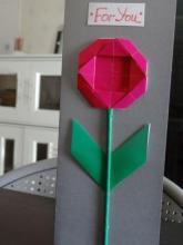 Открытка оригами Ромашка