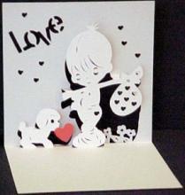 Красивая объемная открытка — «Признание в любви»