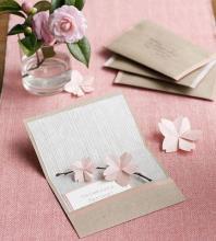 Открытка с цветами оригами