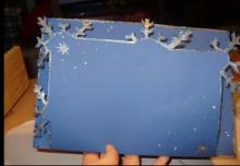Рождественская открытка своими руками — мастер-класс