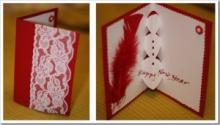 Как делать объёмные открытки — новогодняя